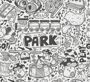 Seamless doodle playground pattern Stock Photo