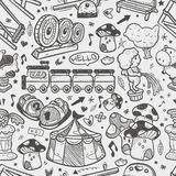 Seamless doodle playground pattern.  Royalty Free Stock Photography