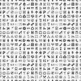 Seamless doodle public sign pattern Royalty Free Stock Image