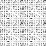 Seamless doodle shopping pattern Royalty Free Stock Photos