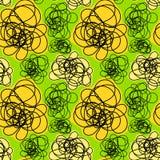 Seamless doodle smoke pattern vector illustration