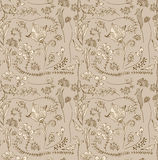 Seamless doodle tender floral background Royalty Free Stock Images
