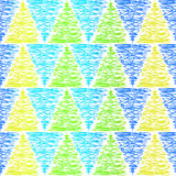 Seamless doodle triangles background pattern Royalty Free Stock Photo