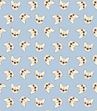 Seamless doodle vintage pattern with a bulldog Stock Image