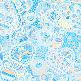 Seamless doodle wallpaper Royalty Free Stock Images
