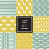 Seamless doodler vector collection set Royalty Free Stock Photography