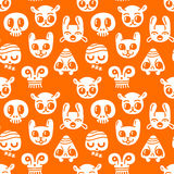 Seamless doodles background. A funny seamless doodles background Royalty Free Stock Image