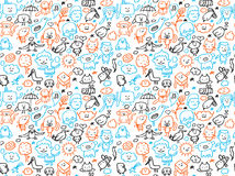 Seamless doodles pattern Stock Images