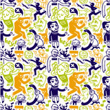 Seamless doodles pattern Stock Photography