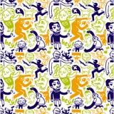 Seamless doodles pattern Stock Illustration