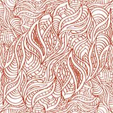 Seamless doodling pattern in ethnic oriental drawing henna style. vector illustration