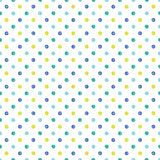 Seamless dot pattern. Hand drawn dot pattern of summer with vector illustration Stock Images