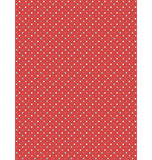 Seamless dot pattern. Multicolor dots on red Royalty Free Stock Images