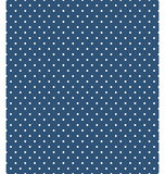 Seamless dot pattern. White dots on blue Stock Photo