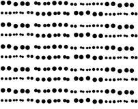 Seamless dot stripe stripe repeat pattern. Seamless stripe of dot repeat pattern with different size dots Royalty Free Stock Photo
