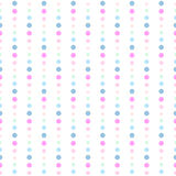 Seamless dots chain pattern Royalty Free Stock Image