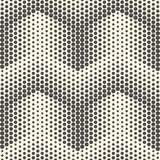 Seamless Dots Pattern. Abstract Black and White Background Stock Photo