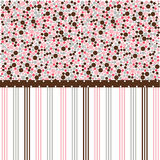 Seamless dots pattern, wallpaper. Seamless dots pink pattern, wallpaper stock illustration