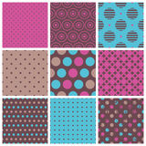 Seamless dots patterns. Set of seamless dots patterns, vector illustration royalty free illustration