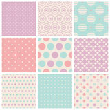 Seamless dots patterns Stock Photos