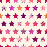 Seamless dots star symbol background Stock Photo