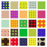 Seamless Dots Swatch Pattern Set Stock Photography