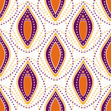 Seamless dotted abstract ornamental pattern background Royalty Free Stock Photos