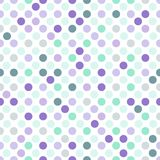 Seamless dotted background in light purple and mint green colors on white background. Seamless watercolor pattern. Can be used for scrapbooking, cards Royalty Free Stock Photos