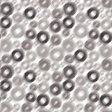 Seamless dotted circles pattern. Abstract gray seamless dotted circles pattern Royalty Free Stock Image