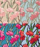 Seamless dotted flower pattern Stock Images