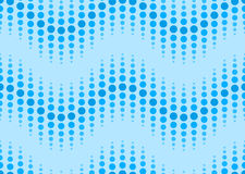 Seamless dotted wavy pattern Royalty Free Stock Photos