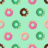 Seamless doughnut or donut pattern Stock Photo
