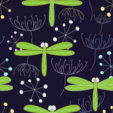 Seamless from dragonfly vector illustration