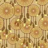 Seamless dreamcatcher pattern Stock Images