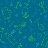 Seamless drink background Stock Photo