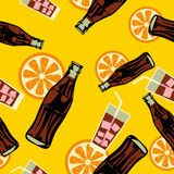Seamless drink pattern Royalty Free Stock Image