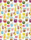 Seamless drink pattern Stock Photo
