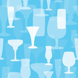 Seamless Drinking Glasses Background. Seamlessly repeating background texture with shapes of drinking glasses. EPS10 file vector illustration