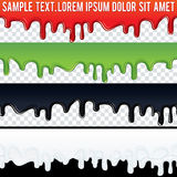 Seamless Drip Liquid Banner. Ready for Your Text Royalty Free Stock Photography
