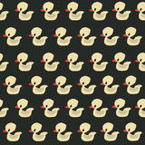 Seamless duck pattern. Seamless pattern design with retro rubber ducklings Stock Photos