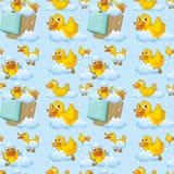 Seamless ducks Stock Photography