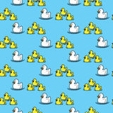 Seamless ducks pattern Royalty Free Stock Images