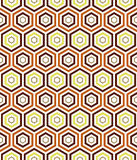 Seamless earth tone hexa pattern background Royalty Free Stock Image