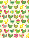 Seamless easter background Stock Image