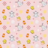 Seamless Easter Background Stock Photo