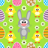 Seamless Easter  background with animal Royalty Free Stock Image