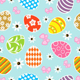Seamless Easter  background blue Royalty Free Stock Photos