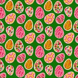 Seamless easter background royalty free illustration