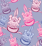 Seamless easter background royalty free stock photography
