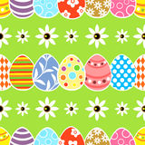 Seamless Easter  background green Stock Photos